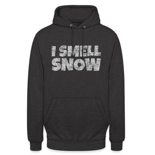 I Smell Snow (Grau) Schnee, Winter, Wintersport - Unisex Hoodie