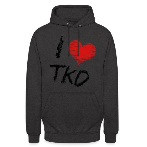 I love tkd letras negras - Sudadera con capucha unisex