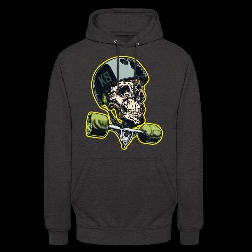 Skull Longboard Rider - colour - Sweat-shirt à capuche unisexe