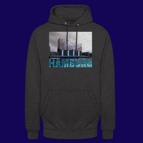 Elbphilharmonie | HAMBURG-Typo| Künstlermotiv - Unisex Hoodie