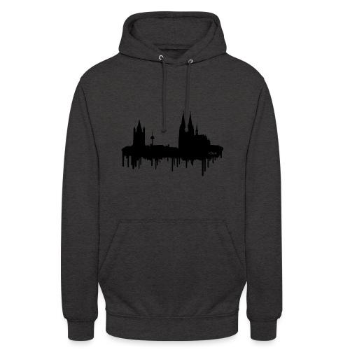 Skyline Köln - Schwarz - Unisex Hoodie