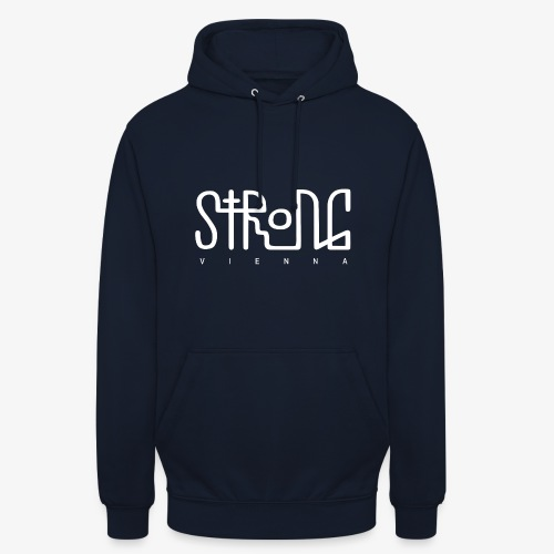 strong vienna logo white trans png - Unisex Hoodie