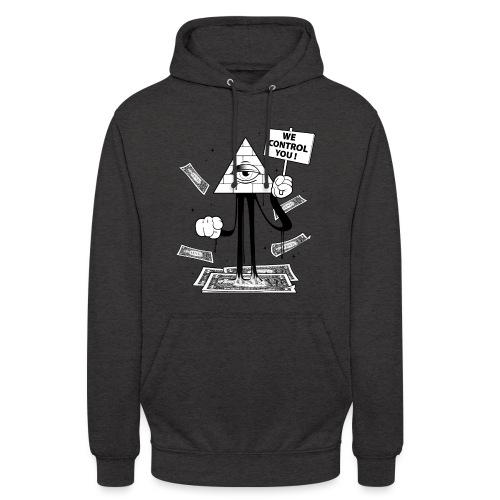 We Control You - Conspiration Design - Sweat-shirt à capuche unisexe