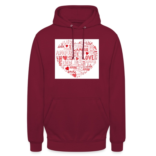 T-shirt texte amour - Sweat-shirt à capuche unisexe