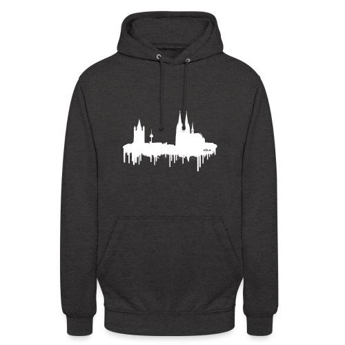 Skyline Köln - Weiß - Unisex Hoodie