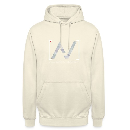 logoalpha blanc - Sweat-shirt à capuche unisexe