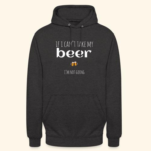Porto la birra - Felpa con cappuccio unisex