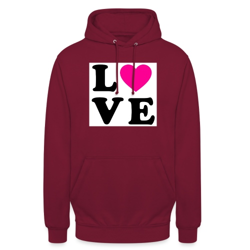 Love t-shirt - Sweat-shirt à capuche unisexe