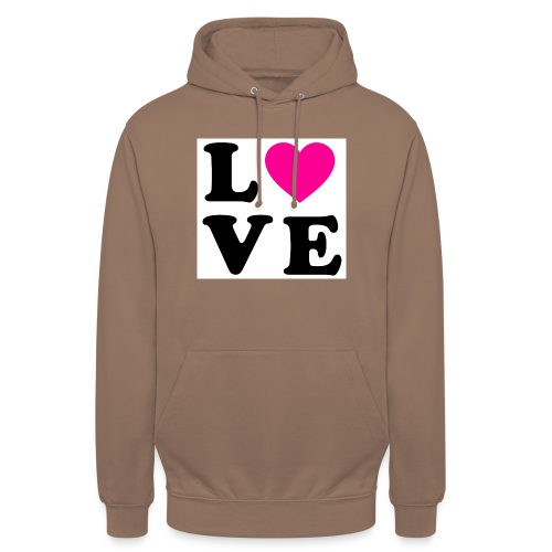 Love t-shirt - Sweat-shirt à capuche unisexe