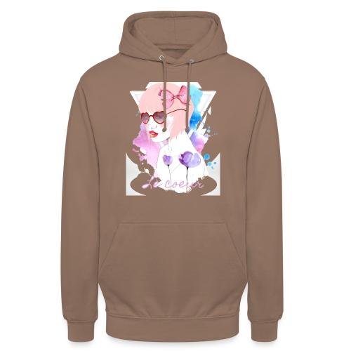 Le coeur - Sweat-shirt à capuche unisexe