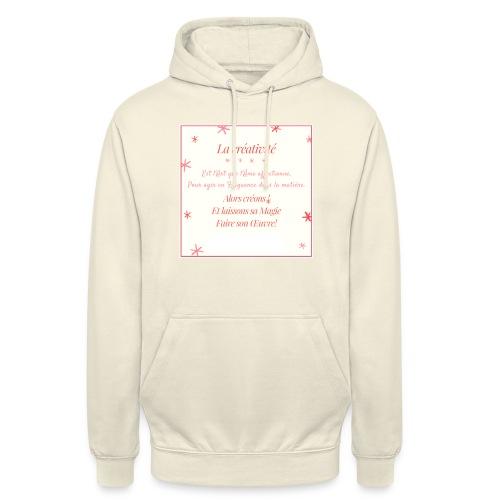 créativité - Sweat-shirt à capuche unisexe