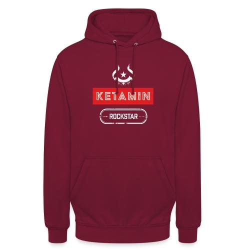 KETAMIN Rock Star - Weiß/Rot - Modern - Unisex Hoodie