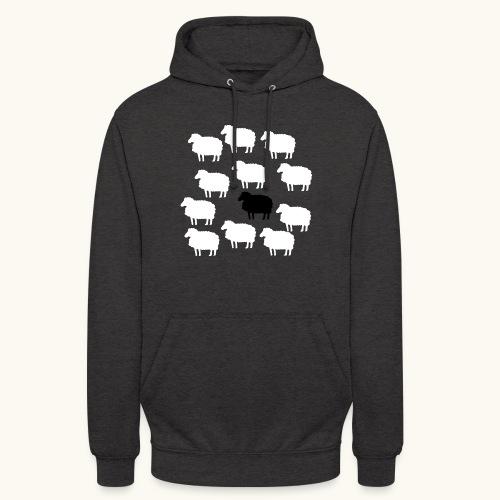 Lustige Schafherde Schwarzes Schaf Geschenkidee - Sweat-shirt à capuche unisexe