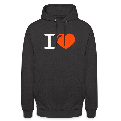 i love heart - Hoodie unisex