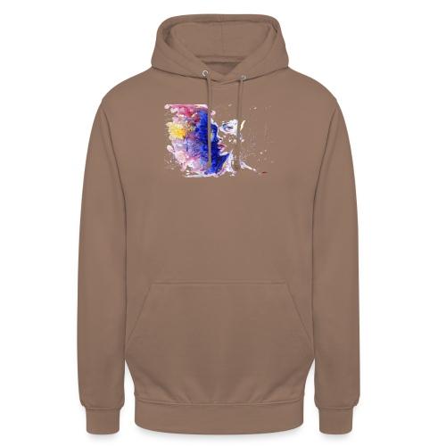 Visage design - Sweat-shirt à capuche unisexe