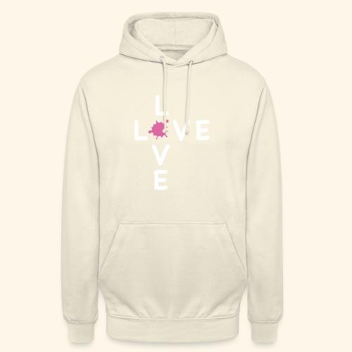 LOVE Cross white klecks pink 001 - Unisex Hoodie
