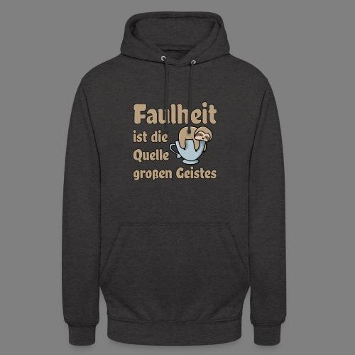 Faulheit - Unisex Hoodie