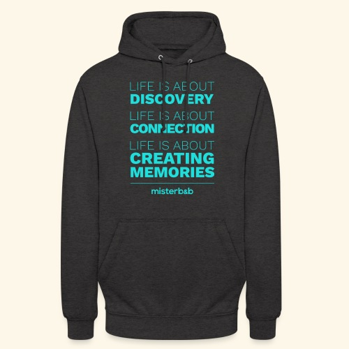 misterb&b - Sweat-shirt à capuche unisexe