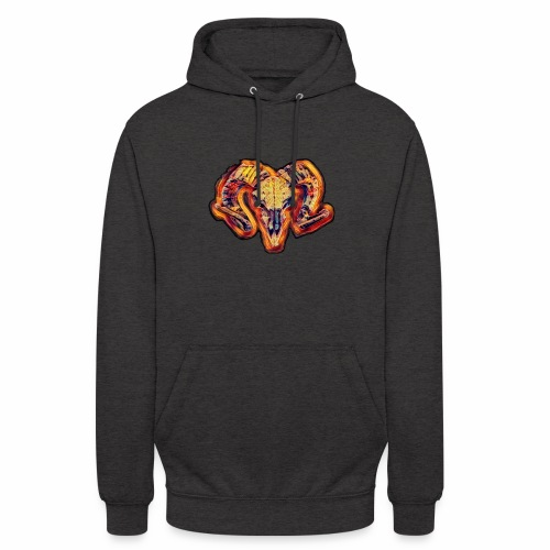 bull on fire medio - Sudadera con capucha unisex