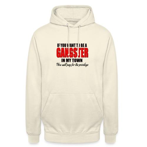 ville gangster - Sweat-shirt à capuche unisexe