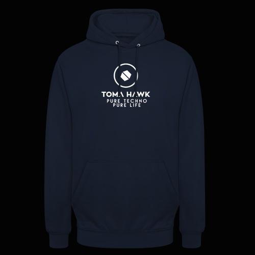Toma Hawk - Pure Techno - Pure Life White - Unisex Hoodie