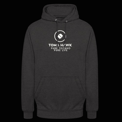 Toma Hawk - Pure Techno - Pure Life White - Unisex Hoodie