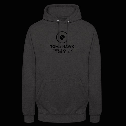 Toma Hawk - Pure Techno - Pure Life Black - Unisex Hoodie