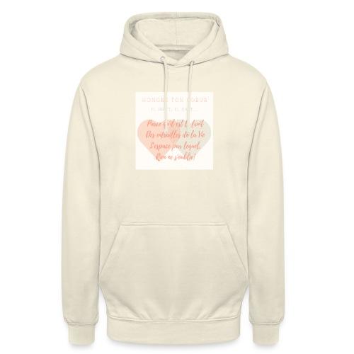 Coeur - Sweat-shirt à capuche unisexe