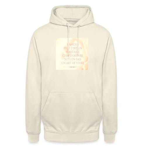 Amour - Sweat-shirt à capuche unisexe