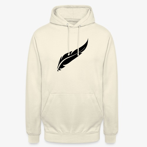 logo plume black - Sweat-shirt à capuche unisexe