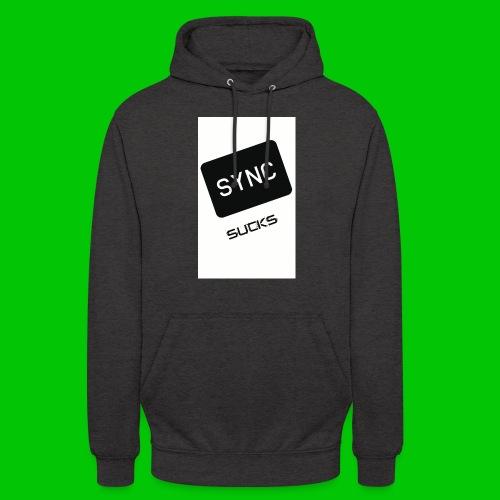 t-shirt-DIETRO_SYNK_SUCKS-jpg - Felpa con cappuccio unisex