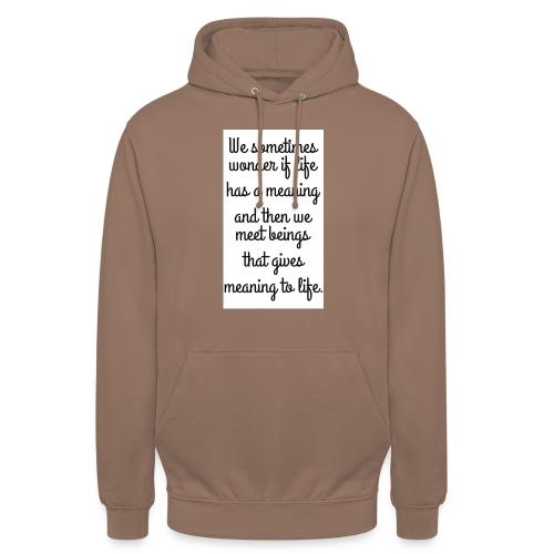 Phrase d'amour en anglais - Sweat-shirt à capuche unisexe
