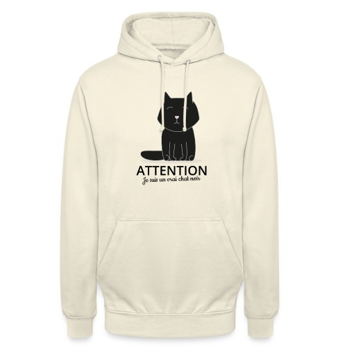 Chat noir - Sweat-shirt à capuche unisexe