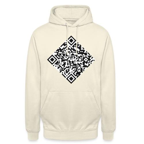 qr code pull - Sweat-shirt à capuche unisexe