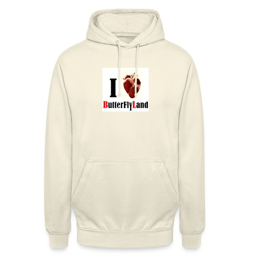 I love Butterflyland - Sweat-shirt à capuche unisexe