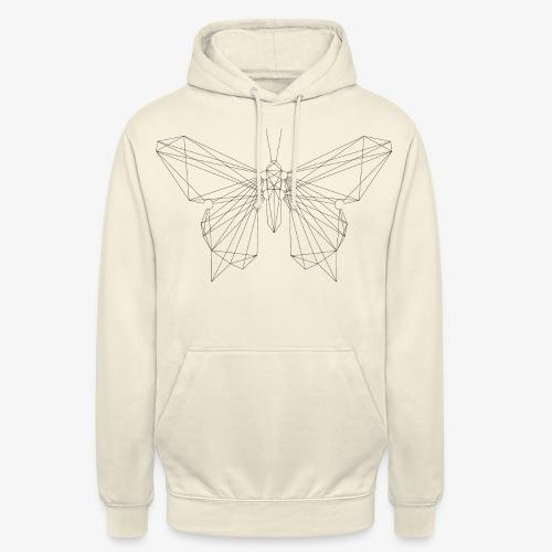 butterfly black. - Unisex Hoodie