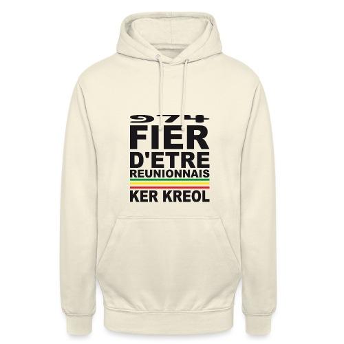 974 Fier d'être Réunionnais - 974 Ker Kreol v1.2 - Sweat-shirt à capuche unisexe