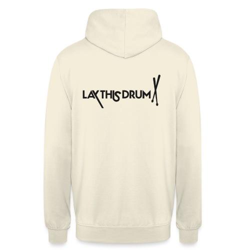LOGO 1 LIGNE/ noir et blanc - Sweat-shirt à capuche unisexe