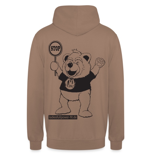 FUPO der Bär. Druckfarbe schwarz - Unisex Hoodie