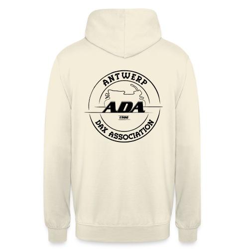 ADA DAX Logo Groot Zwart - Hoodie unisex