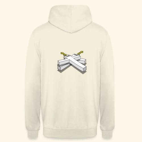 Gold Crosses - Felpa con cappuccio unisex