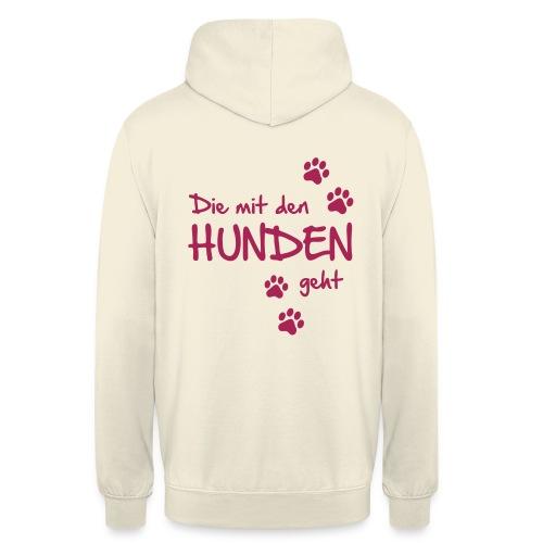 Vorschau: Die mit den Hunden geht - Unisex Hoodie