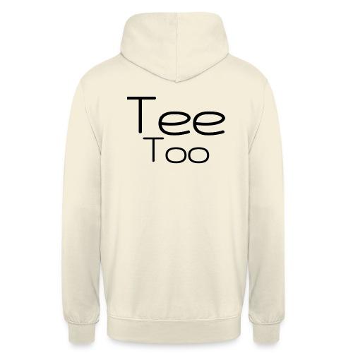 TeeToo text logga - Luvtröja unisex