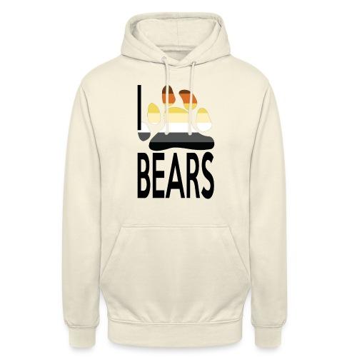 I love bears - Sweat-shirt à capuche unisexe