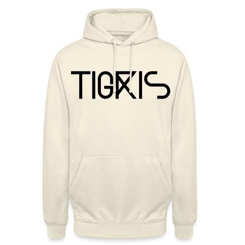 Tigris Vector Text Black - Unisex Hoodie