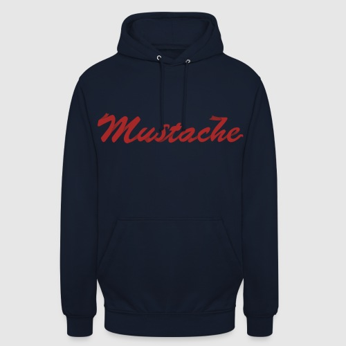 Red Mustache Lettering - Unisex Hoodie