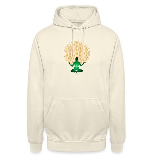 fleur de vie yoga n°4 - Sweat-shirt à capuche unisexe