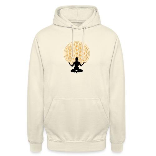 fleur de vie yoga 3 - Sweat-shirt à capuche unisexe