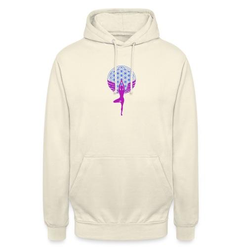 fleur de vie yoga n°1 - Sweat-shirt à capuche unisexe