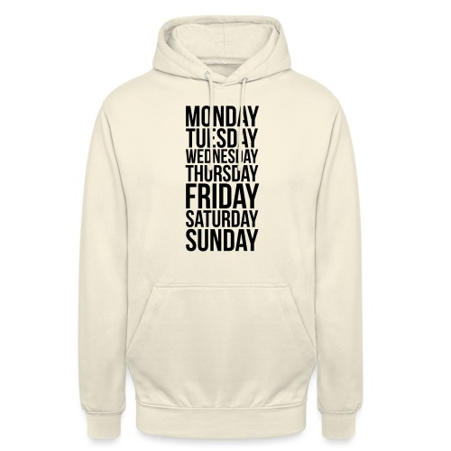 Days of the Week - Unisex Hoodie